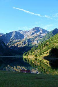 silke tauchert/fotofee-st.de/bergsee/herbst/berge/vilsalpsee/österreich