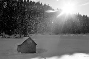 silke tauchert/www.fotofee-st.de/winter/schnee/tannheimertal/berge/hütte